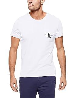 Calvin Klein CK TS Monogram Pocket Slim Black White: Amazon