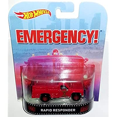 Hot Wheels Retro Emergency Rapid Responder Die Cast: Toys & Games [5Bkhe0504719]