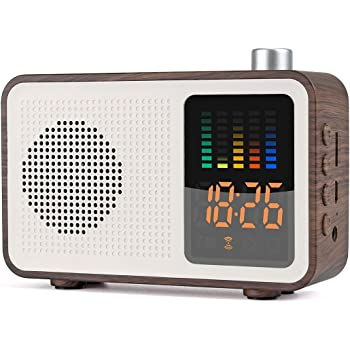 a1384135bfc YSEECHENS Retro Portable Bluetooth Speaker FM Radio Alarm Clock Stereo Wireless  Speakers Support TF Card AUX-IN