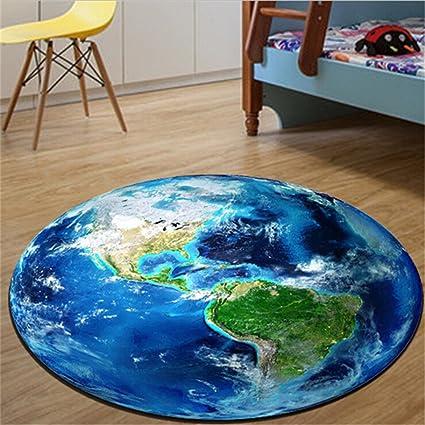 Round Globe Map.Amazon Com Iumer Earth Moon Carpet Kids Rug World Map Round Baby