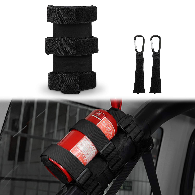 Fire Extinguisher Holder, AAIWA Adjustable Roll Bar Fire Extinguisher Mount Strap for Jeep Wrangler TJ JK JKU LJ CJ YJ by AAIWA