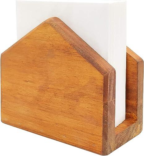 accesorios de cocina decoraci/ón de restaurantes accesorios de bar y decoraci/ón dispensador de servilletas de cocina Servilletero r/ústico Servilleteros de madera para mesas