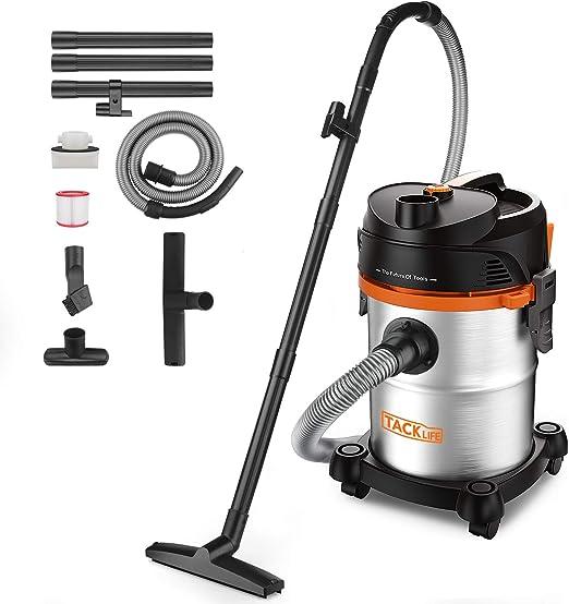 TACKLIFE - Aspirador de agua y polvo, 18,5 kpa 1200 W 20 L ...