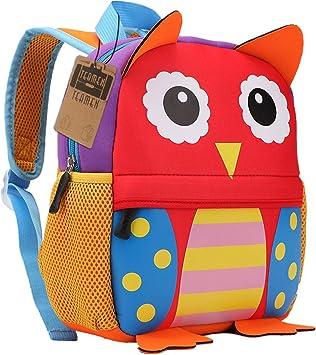 Oferta amazon: Mochila para niños, Animal Mochila Escolar TEAMEN® Toddler Kids Mochila Escolar para niños pequeños, Mochila para 2-5 años (Búho)