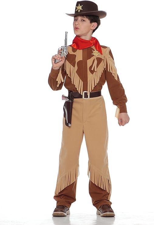 CARITAN - Disfraz de vaquero con pañuelo marrón para niño (de 5/7 ...