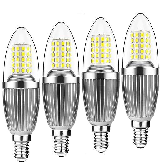 Bombillas de vela LED Yiun E14, Bombillas de candelabro LED 12W Equivalente de 100 vatios