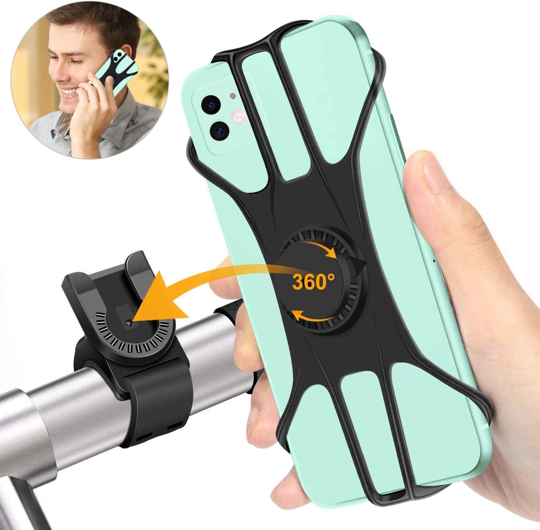 Shinemefly Supporto Bici Smartphone 360/° Rotabile Porta Telefono Universale Porta Cellulare Bici per Bicicletta Ciclismo per GPS e Altri Dispositivi Elettronici 4.5-7.5 Pollici