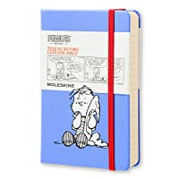 Moleskine 2016 Peanuts Limited Edition Daily Planner, 12M, Pocket, Blue, Hard Cover (3.5 x 5.5)