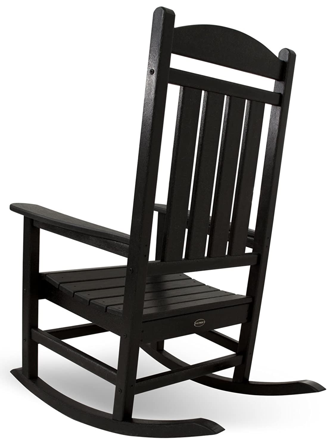 Black outdoor rocking chair - Amazon Com Polywood R100bl Presidential Rocker Black Rocking Chairs Patio Lawn Garden