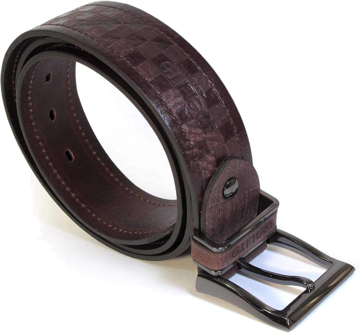 UM5 Mens Real Genuine Leather Dark Brown Belt 1.5 Wide S-XL Thick Casual Jeans