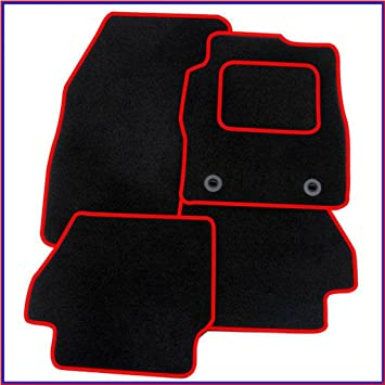 TOYOTA AYGO  BLACK /& RED TRIM CAR FLOOR MATS