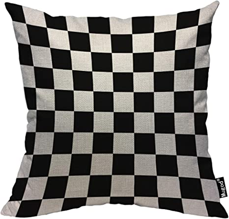Pillow Insert NOT Included Racecar Checkerboard Decorative Cotton Pillow Sham Cushion Cover