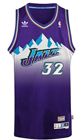 size 40 9451b 0de34 Karl Malone Utah Jazz Adidas NBA Throwback Swingman ...