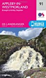ORDNANCE SURVEY Landranger 91 Appleby-in-Westmorland Map with Digital Version