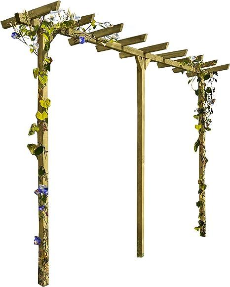 Gartenpirat Pergola de Madera Puerta Arco Rank Ayuda Longitud Aprox. 450 cm (7 x 7)