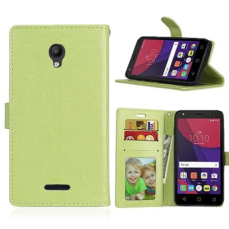Qiaogle Teléfono Case - Funda de PU Cuero Billetera Clamshell Carcasa Cover para Alcatel One Touch Pop Star 3G 5022D (5.0 Pulgadas) - DK07 / Verde ...