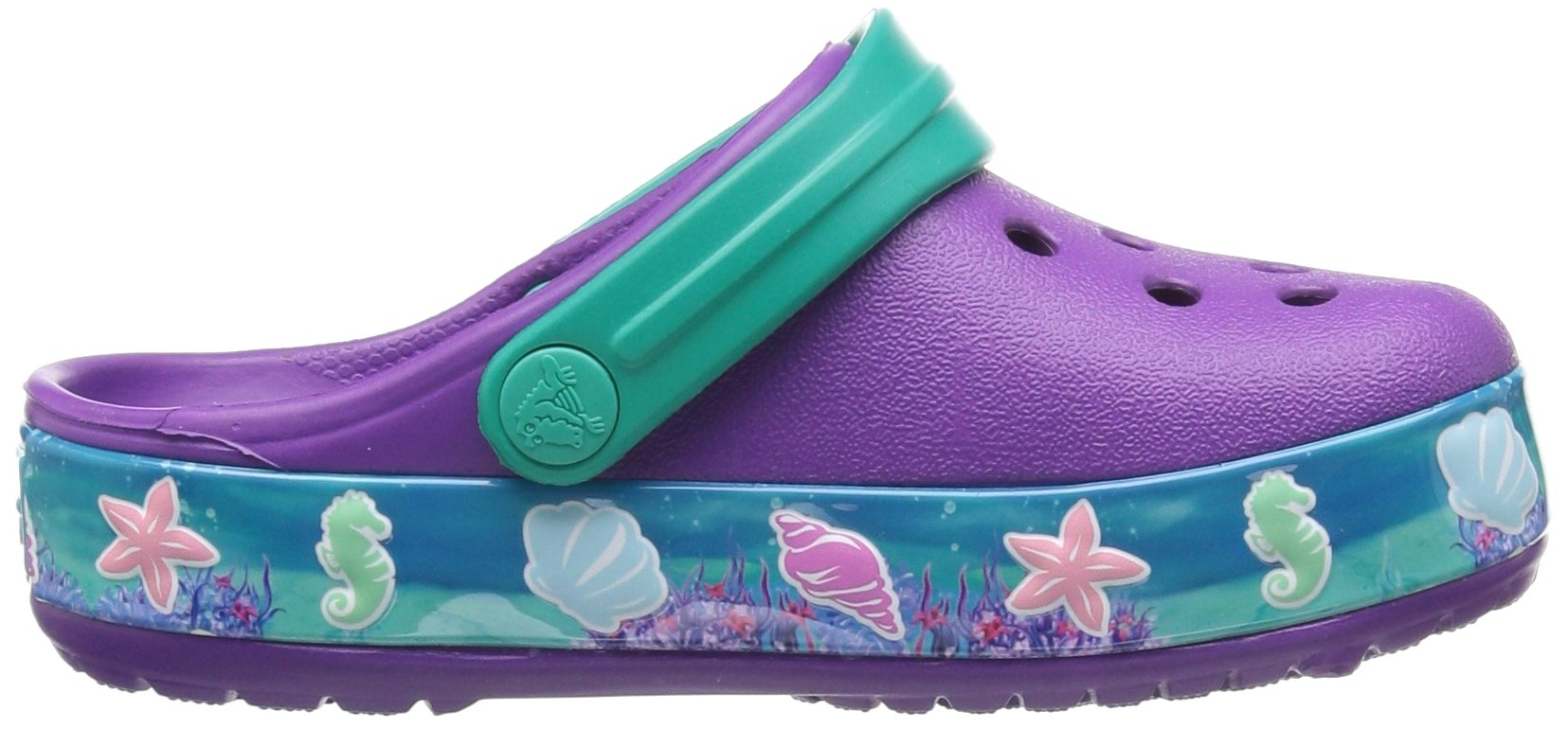 Crocs Girls' CB Princess Ariel K Clog, Amethyst, 13 M US Little Kid by Crocs (Image #7)