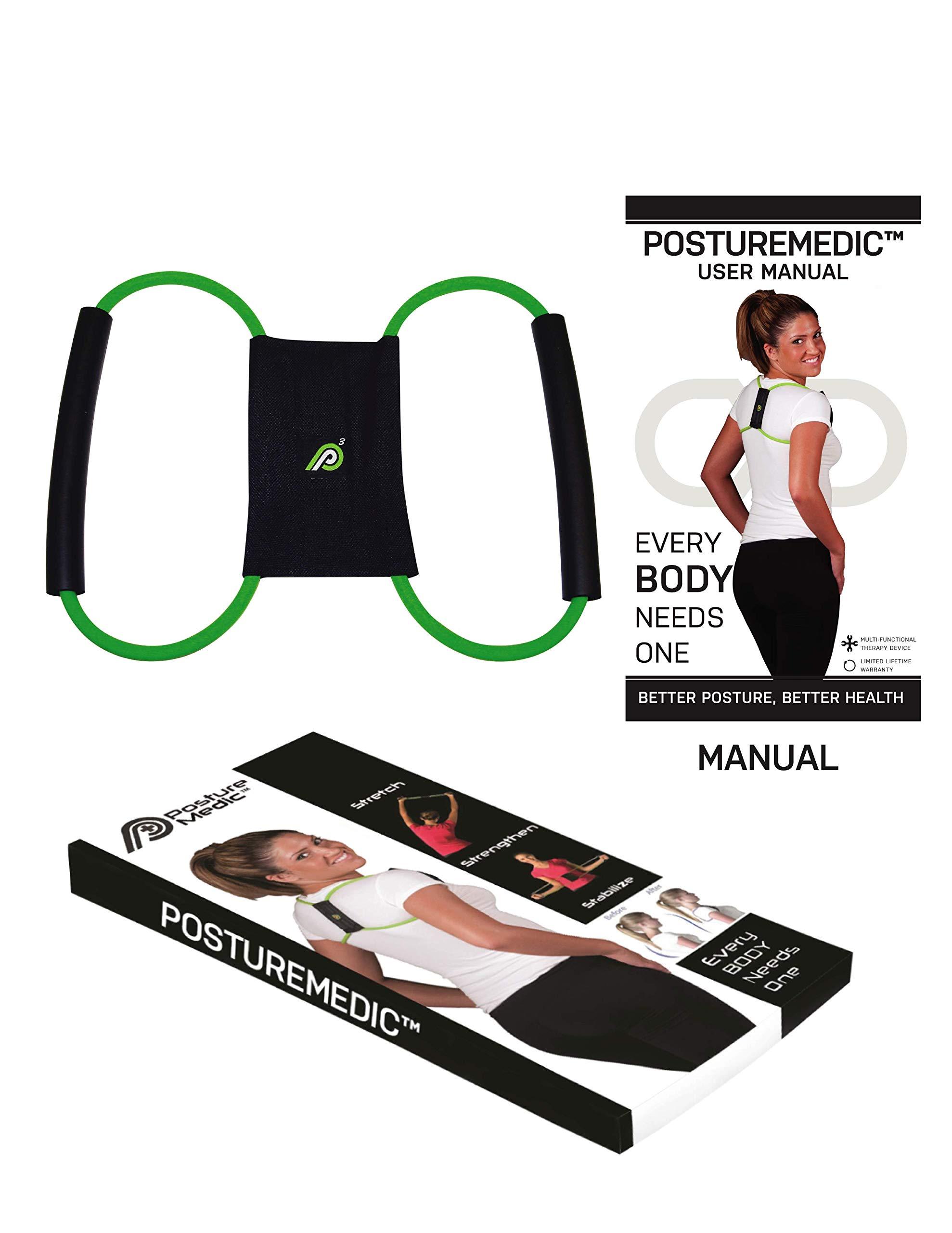 PostureMedic Original - Posture Corrector Brace - Improve Posture with Support and Exercises (Medium)