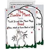 """Zombie Plant Seed Packets (2) Grow Your Real Live Zombie Plant. Watch it""""Play Dead"""" When Touched! Supplies for Zombie Themed Birthday. Plant Zombie Seeds as an Activity. Great Stocking Stuffer!"""