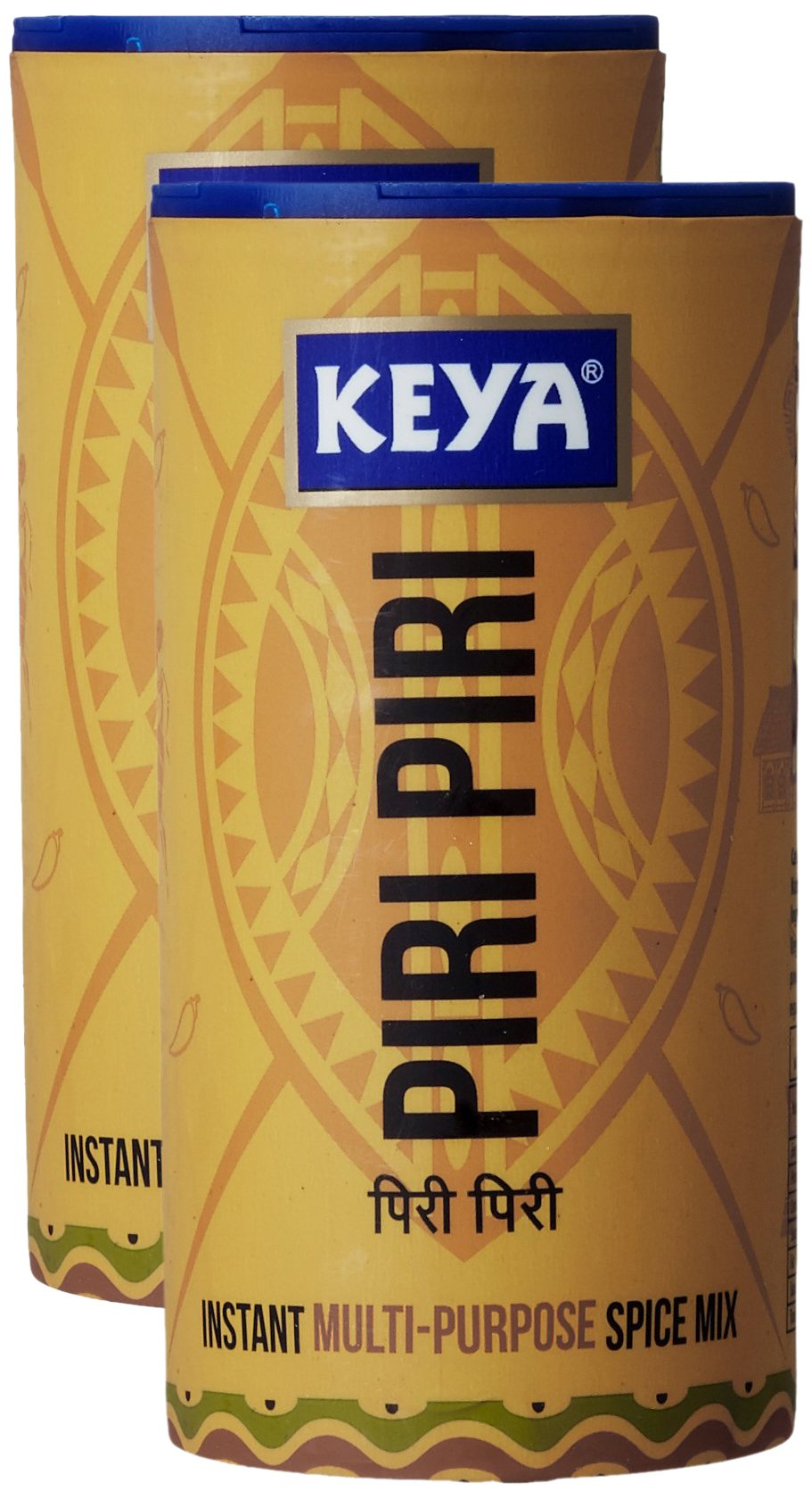 Keya Piri Piri Seasoning 80 grams (2.8 oz) - Vegetarian, India - Instant Multi Purpose Spice Mix - Pack of 2 by Keya
