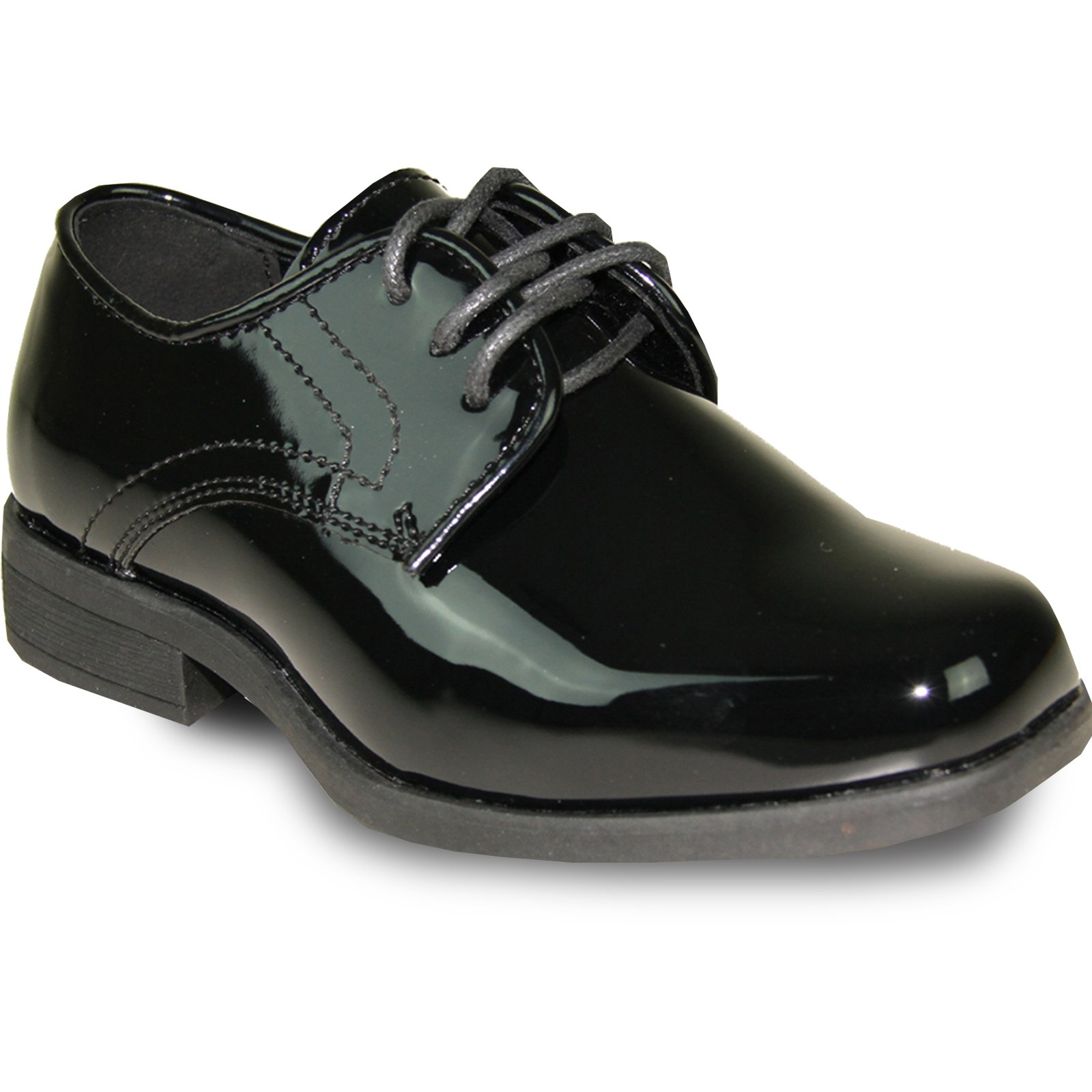 JEAN YVES Boy Dress Shoe JY01KID Classic Tuxedo for Wedding, Prom and Formal Event Black Patent 8K