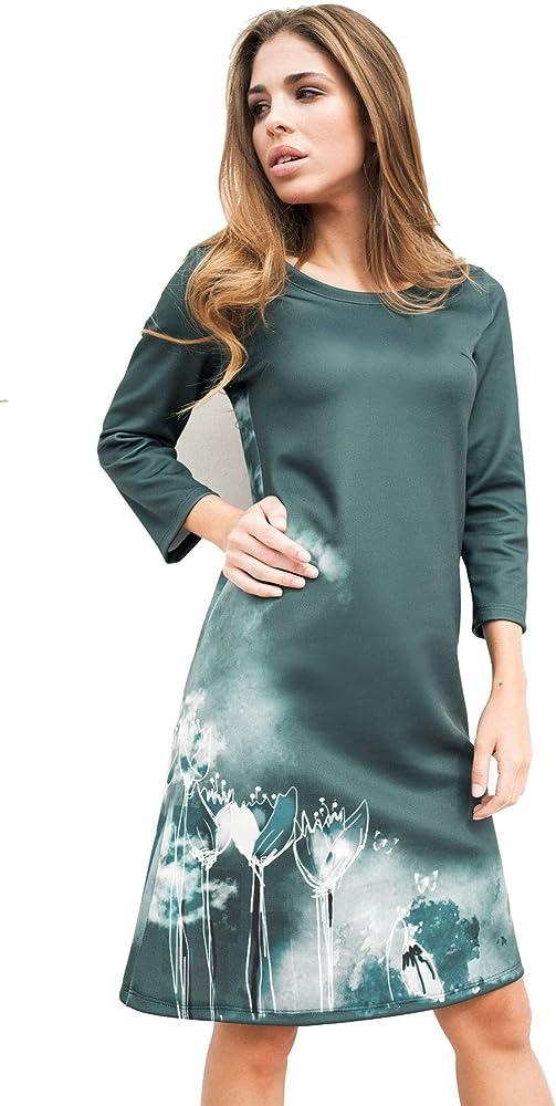 Vestido de Mujer de Neopreno Midi con Tulipanes.100% diseñado y ...