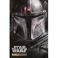 Grupo Erik Póster The Mandalorian Helmet, Star Wars