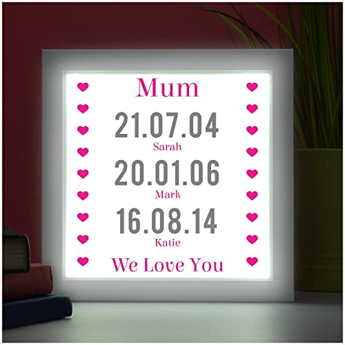PERSONALISED Led Box Frame Mothers Day Gifts Christmas Birthdays Mum ...