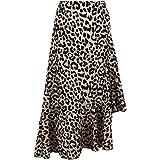 Damen Leopard Gedruckt Rock, Quaan Hoch Taille Sexy Bleistift Bodycon Hüfte Mini Beiläufig Retro Party Abschlussball Swing Abendessen Kleid Klassisch Lange Kleid