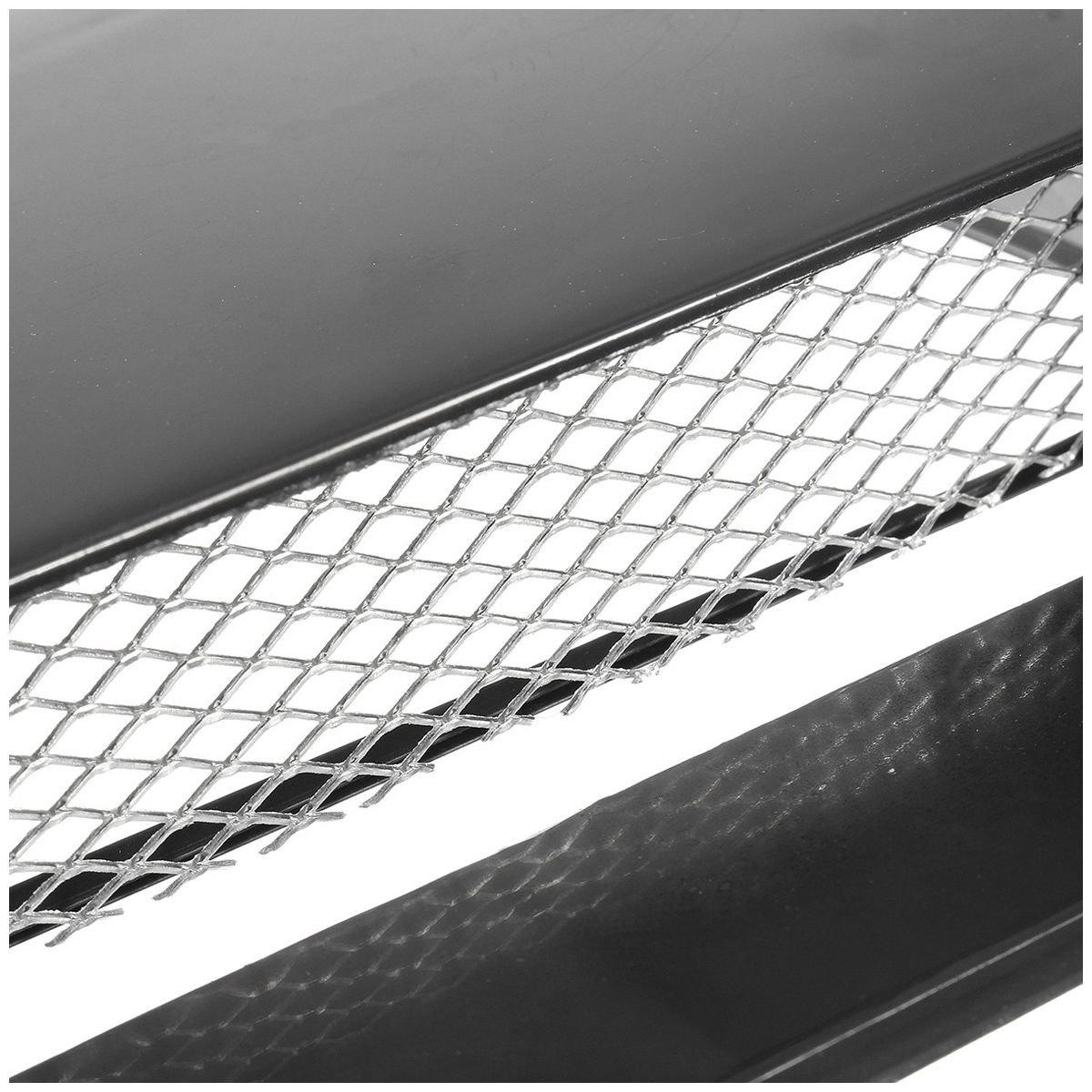 TOOGOO Universale Cappuccio della Copertura di Ventilazione del Cofano del Cofano della Presa del Flusso dAria Decorativo Nero Automatico dellautomobile