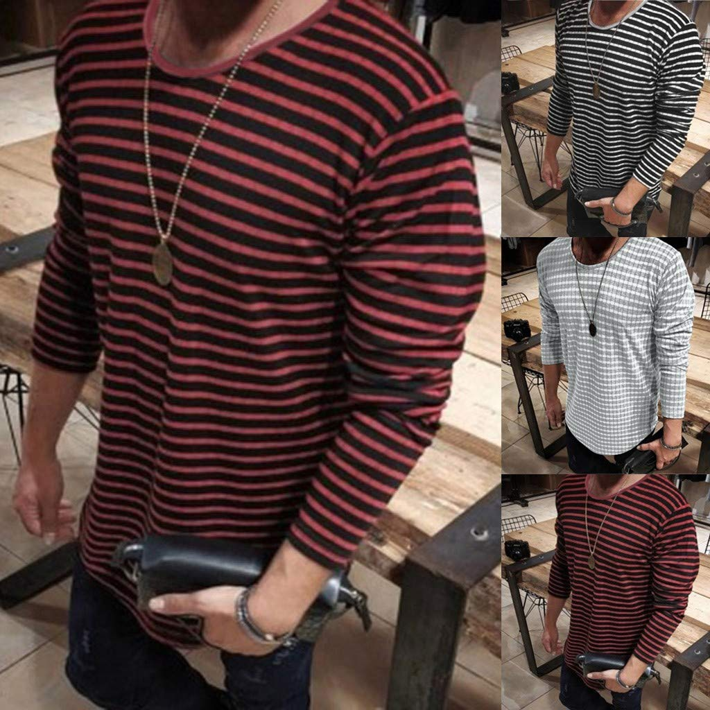 Simayixx Blouses Plus Size 100/% Cotton Men Crew Neck Slim Muscle Tops Tee Henley T-Shirts Raglan Baseball Tee Pullover