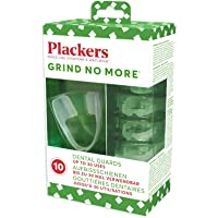 Plackers Grind No More Dental Night Protectors Mouth Guard, for Teeth Grinding, Bruxism & Teeth Clenching, Bpa Free - Pack of 10 Guards