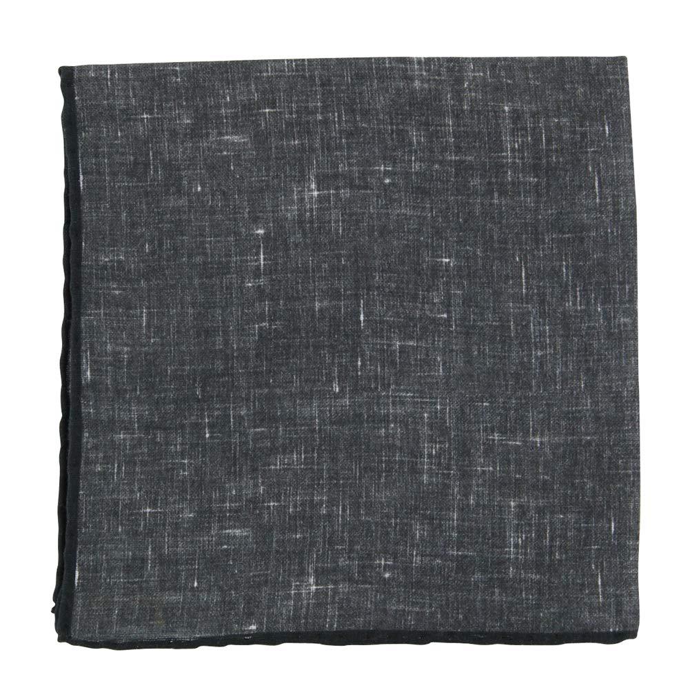 New Fiori Di Lusso Dark Gray Melange Pocket Square x 12