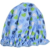 Vagabond Bags Bonnet de douche Motif cœurs Bleu