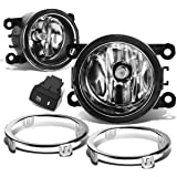 Honda Pilot Pair of Bumper Driving Fog Lights + Bezel + Wiring Kit + Switch (Clear Lens)