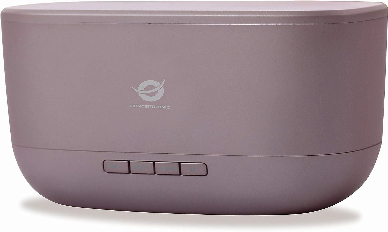 Conceptronic BABYLON01R 10 W Rojo - Altavoces portátiles (10 W, 60-18000 Hz, 95 dB, 0,5%, Inalámbrico y alámbrico, MicroUSB)