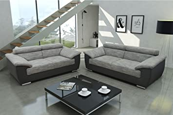 Dreams4home Sofa Set Juli Set 2er 3er Sofa Couch Sitzmobel