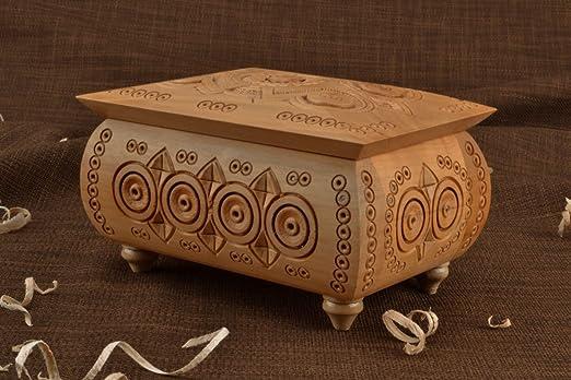 Joyero con patas (Madera de peral): Amazon.es: Hogar