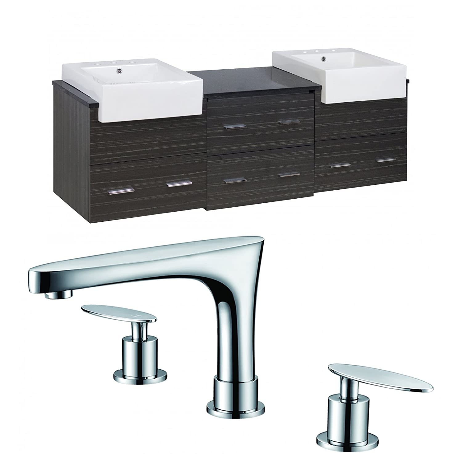 17.5-in. W x 17.5-in. D Above Counter Square Vessel In White Color For Single Hole Faucet IMG Imports Inc. AI-105-57