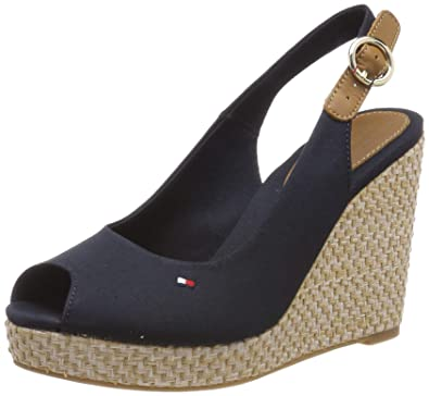 009215e964e Tommy Hilfiger Iconic Elba Tall Wedge Heel Sandals