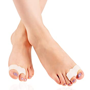 Amazon.com : Toe Separators Spacers- Bunion Corrector for Hallux Valgus, Bunions, Overlapping Toes - One Size Fits All - by Feetsease (1 Pair) : Beauty