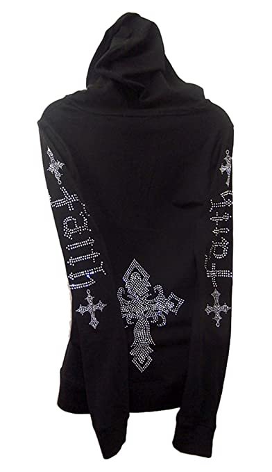Silver Cross Hoodie Sweater