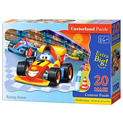 Castorland Action Premium Maxi Racing Puzzle (20pièces, multicolore)