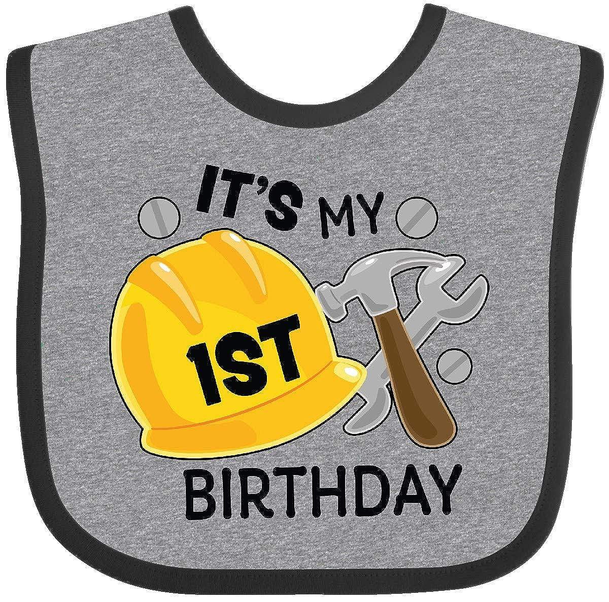 Inktastic - Its My 1st Birthday with Construction Tools Baby Bib 33eb2 14-212658-116-887-2987