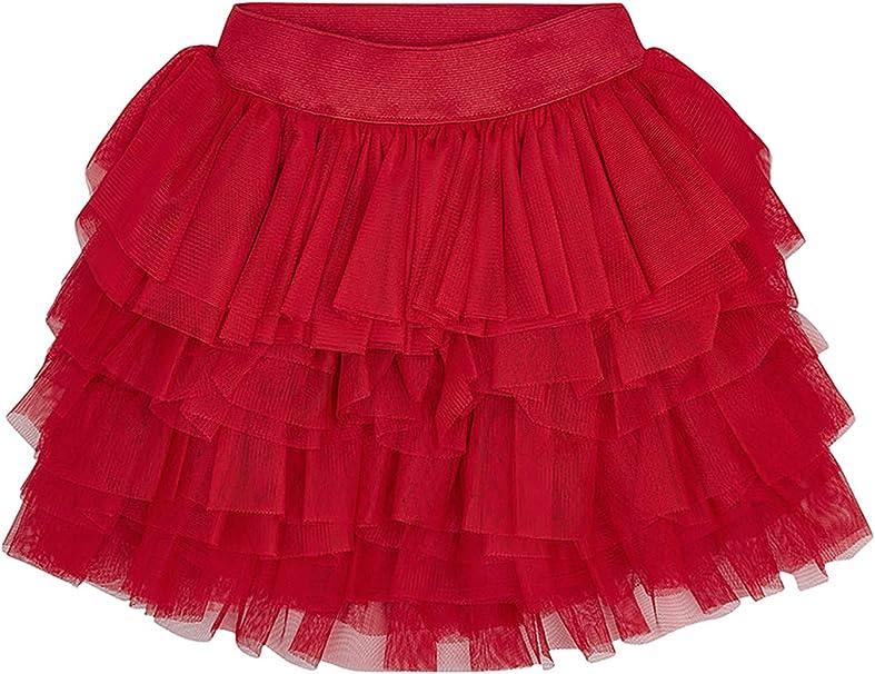 Mayoral 3903 - Falda de Tul con Volantes para niña, Color Rojo ...