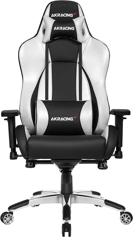 AKRacing Masters Series Premium Gaming Chair, Silver