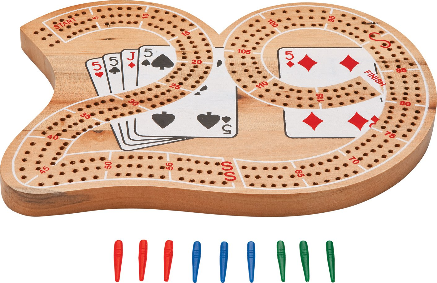 "Amazon.com: Mainstreet Classics Wooden ""29"" Cribbage Board Game Set: Sports  & Outdoors"
