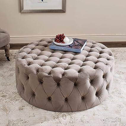 Tremendous Amazon Com Simple Interior Modern Cocktail Ottoman Round Short Links Chair Design For Home Short Linksinfo