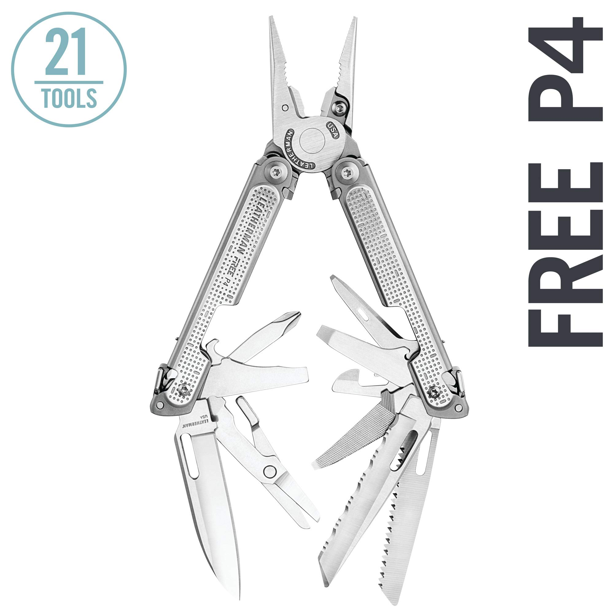 LEATHERMAN - FREE P4 Multitool with Magnetic Locking, One Hand Accessible Tools and Premium Nylon Sheath by LEATHERMAN (Image #1)