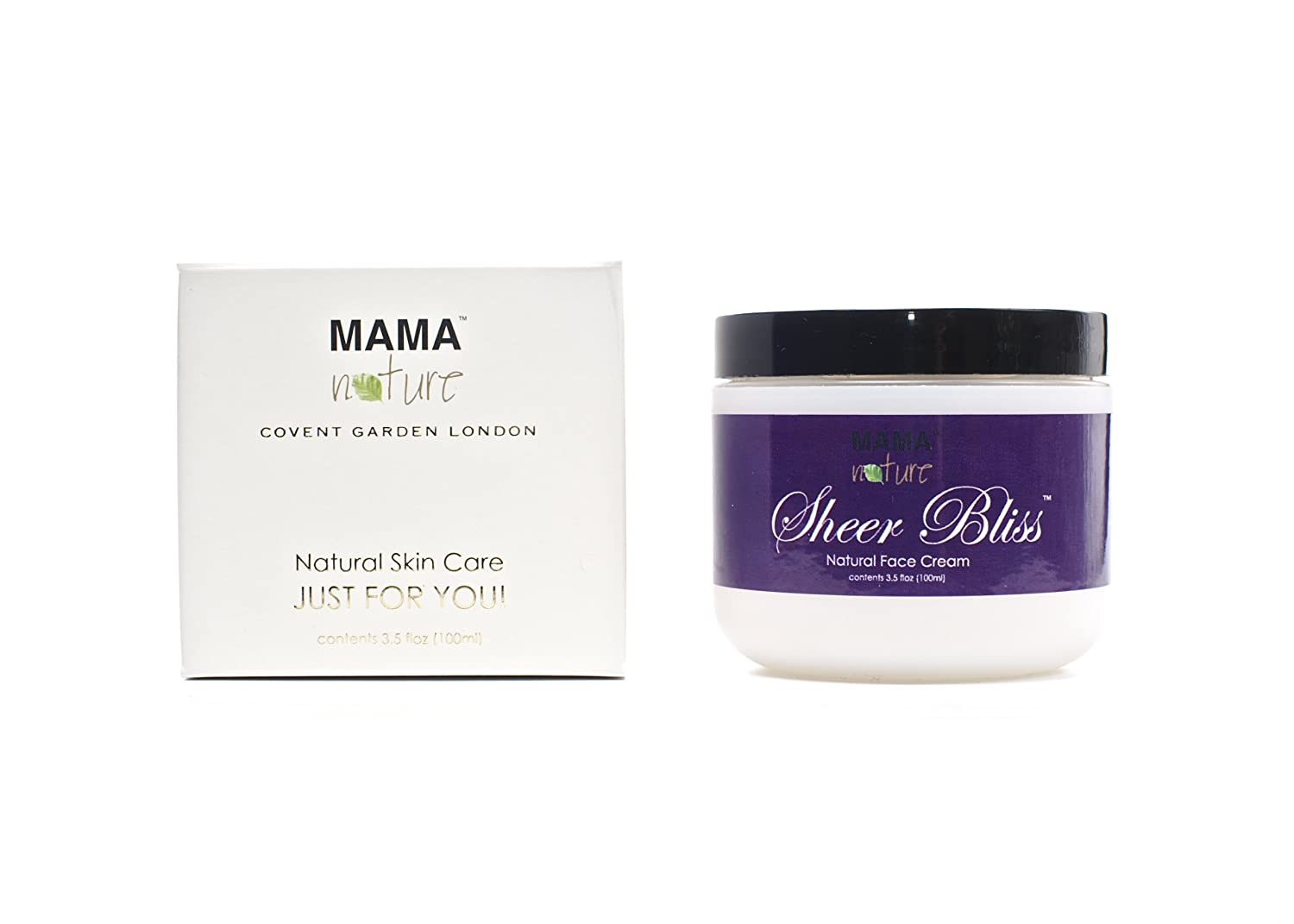 Mama Nature of London Sheer Bliss Natural Face Cream 100ml Sinusoothe 662425039210
